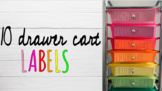 10 Drawer Rolling Cart Labels *EDITABLE