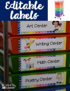 10 Drawer Storage Labels