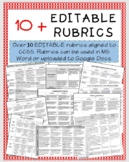10+ EDITABLE Rubrics for Distance Learning and Classroom Use