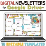 10 EDITABLE classroom NEWSLETTERS for GOOGLE DRIVE™ School things