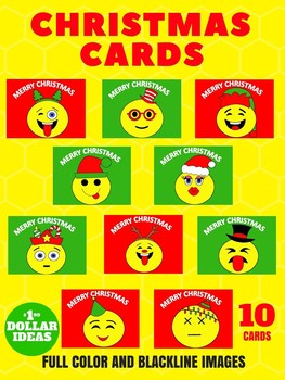 CHRISTMAS CARDS | 10 EMOJI CARDS | CHRISTMAS CRAFTS FOR KIDS