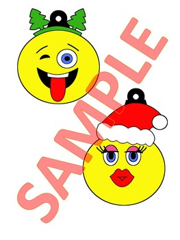 10 EMOJI ORNAMENTS   CHRISTMAS ORNAMENTS   CHRISTMAS CRAFTS