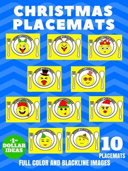 10 EMOJI PLACEMATS | CHRISTMAS CRAFTS FOR KIDS