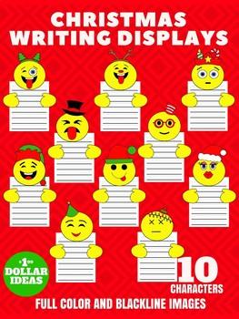 CHRISTMAS WRITING DISPLAYS| 10 EMOJI WRITING DISPLAYS |CHRISTMAS CRAFTS FOR KIDS