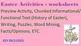 10 Easter Activities - worksheets- functional/informative