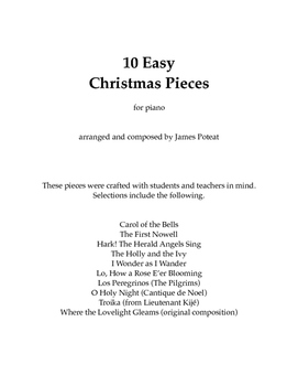 10 Easy Christmas Pieces for Piano