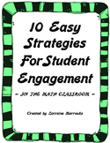 10 Easy Strategies for Student Engagement in the Math Classroom