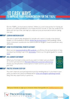 10 Easy Ways to Improve Your Pronunciation for the TOEFL