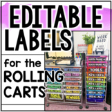 Editable Labels for the 10-Drawer Cart