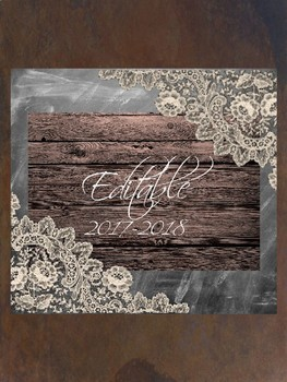 10 Editable Rustic/Shabby Chic Binder Covers