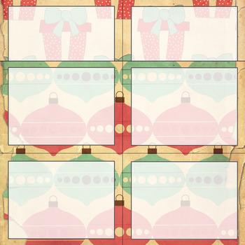 10 Editable Vintage Christmas Task Card Decor Templates (Landscape) PPT