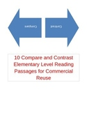 10 Elementary Compare and Constrast Reading Passages for Commercial Reuse