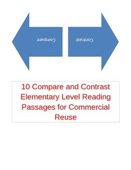 10 Elementary Compare and Constrast Reading Passages for C