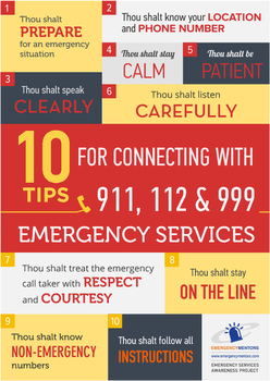10 Emergency Services Tips Poster