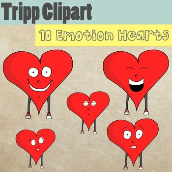 10 Emotion Hearts Clipart for Valentine's Day