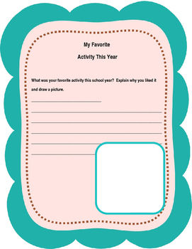 10 End Of Year No Prep Printables for Grades K-5