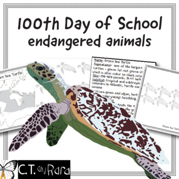 10th Day of School Endangered Animals Book Builds to the 100th Day of School