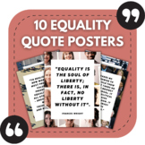 10 Equality Quote Posters for High School Bulletin Boards