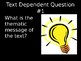 10 Essential Close Reading Text Dependent Questions (Fiction) PowerPoint