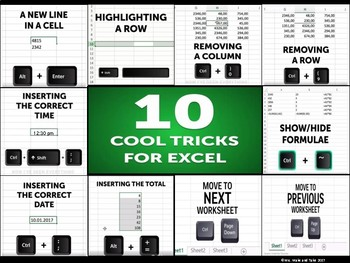10 Excel Tricks Poster