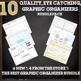 10 Eye Catching, Quality, Graphic Organizers Bundle Pack