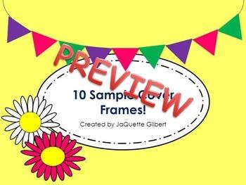 10 FREE Cover Frames
