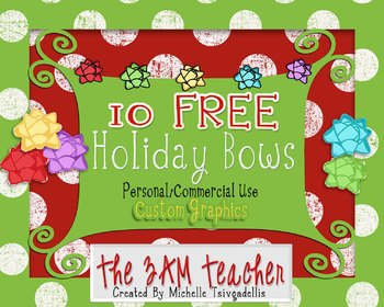 10 FREE Holiday Bows (with the line art)