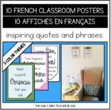 FREEBIE - 10 French Classroom Posters - 10 Affiches en français