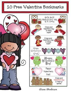 10 FREE Valentine Bookmarks