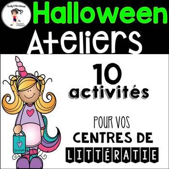 10 FRENCH Halloween Centers/ 10 Ateliers d'Halloween - Français