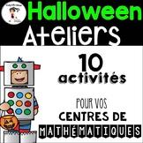 10 FRENCH Halloween Centers/ 10 Ateliers d'Halloween - Mathématique