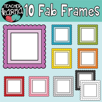 Frames in Rainbow Colors, Borders