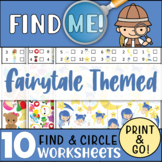 10 Fairytale Themed Find & Circle the Hidden Objects: Work