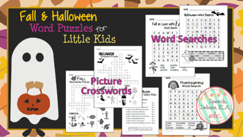 10 Fall & Halloween Word Puzzles for Early & Mid-Elementary Students