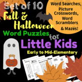 10 Fall & Halloween Word Puzzles for Early & Mid-Elementar