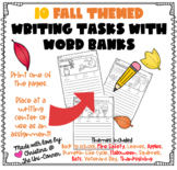 10 Fall Themed Writing Tasks With Word Banks