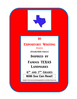 10 Famous Texas Landmarks Expository Writing Prompts STAAR 6th 7th