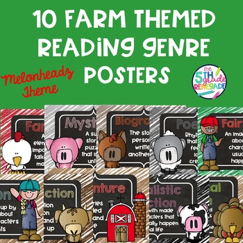 10 Farm Themed Reading Genre Posters