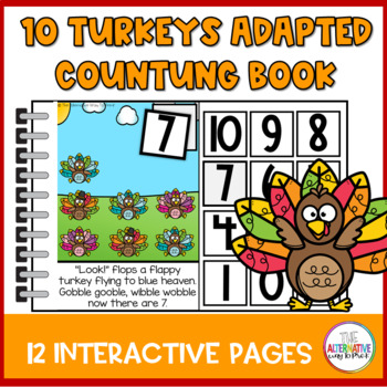 10 Fat Turkeys Adapted and Interactive Book