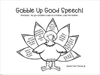 10 Fat Turkeys Book Buddy for Speech Therapy