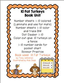 10 Fat Turkeys  Book Unit