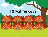10 Fat Turkeys Reading Activity