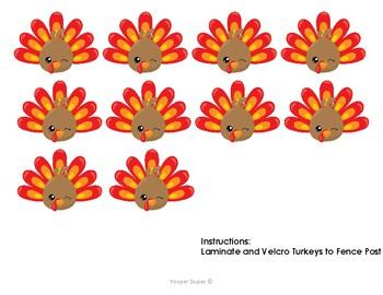 10 Fat Turkeys Reading Activity