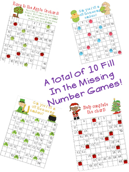 10 Fill In the Missing Number Seasonal Games