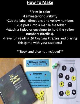 10 Flashing Fireflies File Folder Game