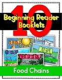10 Food Chain Booklets {Beginning Readers}