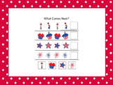 10 Fourth of July Holiday themed preschool games and worksheets bundle.