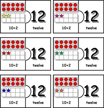 10 Frame 11 to 20 Puzzles
