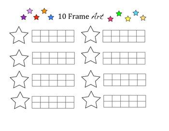 10 Frame ART using Qtips 1-10