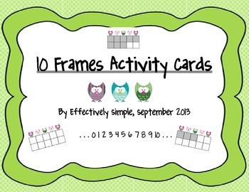 Owl Ten Frames Activities, Worksheets and Homework